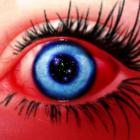 Blue and red Eyes.