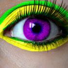 Creepy purple eye.