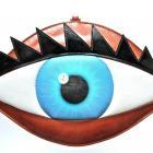 Голубой кожанный глаз.